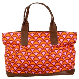 Amy Butler Abina Tote in Fountains Tangerine