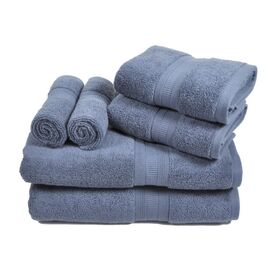 6-Piece Linden Towel Set in Blue Dusk