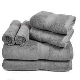 6-Piece Linden Towel Set in Steel