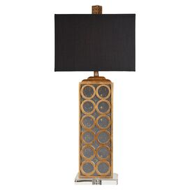 Sandringham Table Lamp in Gold Leaf