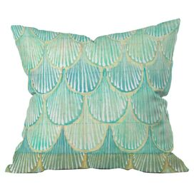 Turquoise Scallops Pillow