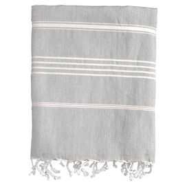 Castries Fouta Towel in Grey