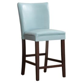 Olivia Counter Stool in Sky Blue