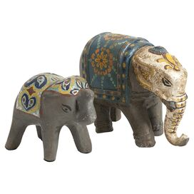 2-Piece Haani Elephant Figurine Set