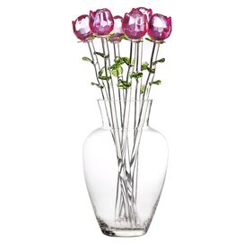 Yulia Glass Rose Arrangement