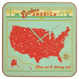 Explore America Wall Clock