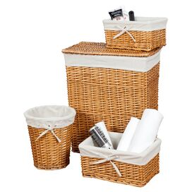 4-Piece Anna Hamper & Storage Basket Set in Honey