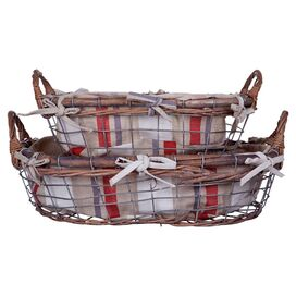 2-Piece Marcy Rattan Basket Set