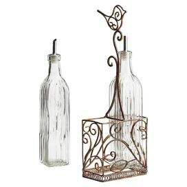 3-Piece Villa Nova Oil & Vinegar Caddy Set