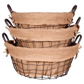 3-Piece Farmhouse Basket Set