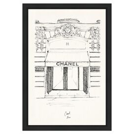 31 Rue Cambon Paris Framed Print