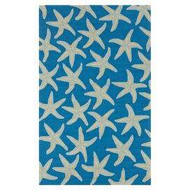 Estrella Indoor/Outdoor Rug in Peacock Blue