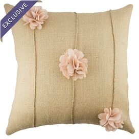 Flora Pillow in Beige