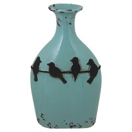 Perched Birds Vase