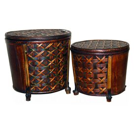 2-Piece Mason Rattan Basket Set