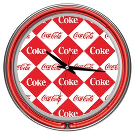 Checker Coca-Cola Wall Clock