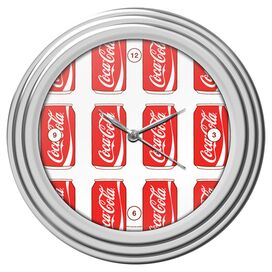 Cans Coca-Cola Wall Clock