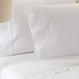 4-Piece Claudia Sheet Set in White