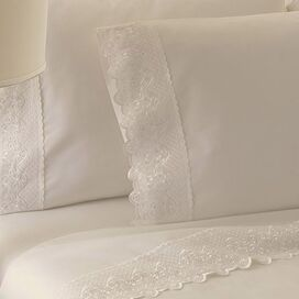 4-Piece Claudia Sheet Set in Ivory