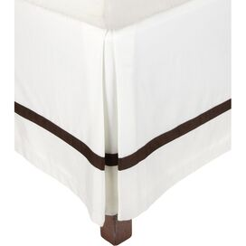 Marcie Bed Skirt in Chocolate