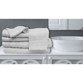 6-Piece Saratoga Bamboo Towel Set in White
