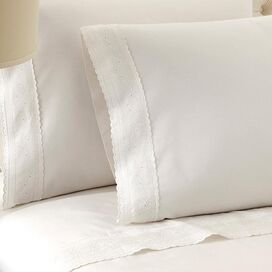 4-Piece Sylvia Sheet Set in White