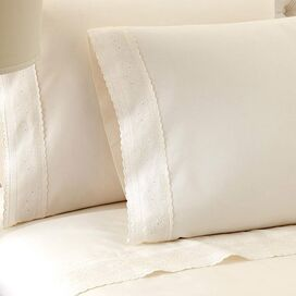 4-Piece Sylvia Sheet Set in Ivory