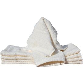 Hermosa Washcloth in White