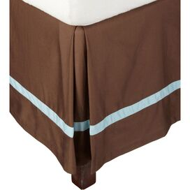 Marcie Bed Skirt in Sky Blue