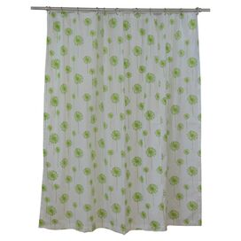 Dandelion Shower Curtain in Chartreuse