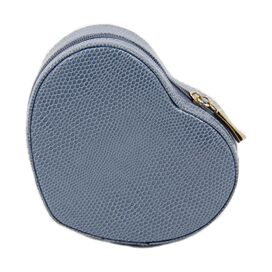 La Coeur Leather Jewelry Case in Blue