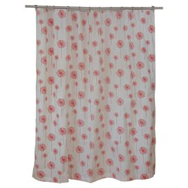 Dandelion Shower Curtain in Coral