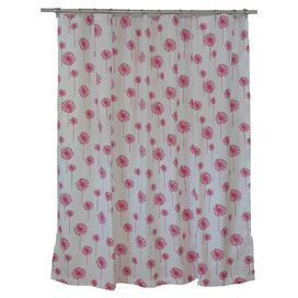 Dandelion Shower Curtain in Pink
