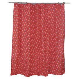 Jardine Shower Curtain in Coral