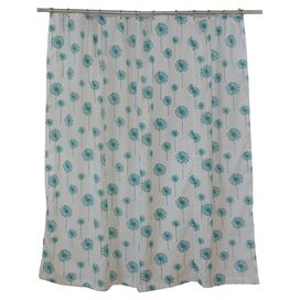 Dandelion Shower Curtain in Turquoise