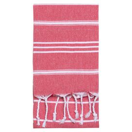 Marcella Fouta Towel in Red
