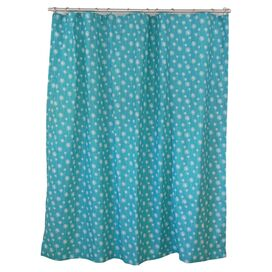 Jardine Shower Curtain in True Turquoise