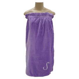 Personalized Sylvia Towel Wrap in Hyacinth