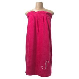Personalized Sylvia Towel Wrap in Hot Pink