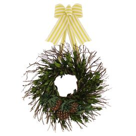 Faux Pineapple Mixed Wreath