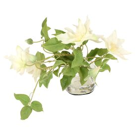 New Growth Designs Faux Clematis Arrangement in White