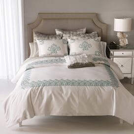 3-Piece Daliya Queen Duvet Set in Teal