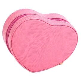La Coeur Leather Jewelry Case in Pink