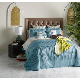 3-Piece Layla Duvet Set in Gulf Blue