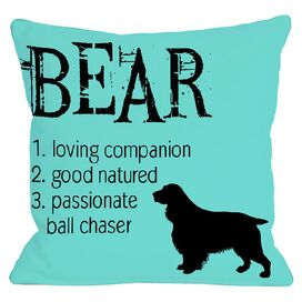 Personalized Bear Pillow