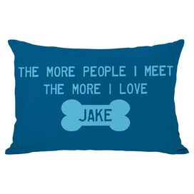 Personalized More People Pillow