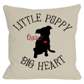 Personalized Little Puppy, Big Heart Pillow