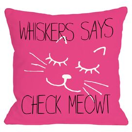 Personalized Check Meowt Pillow