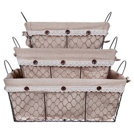 3-Piece Toscana Rattan Basket Set I