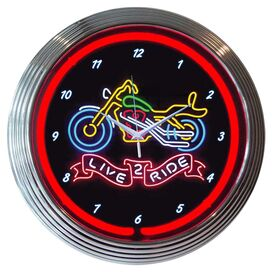 Live 2 Ride Wall Clock